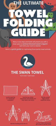 How To Fold Towels Into Animal Shapes - DesignTAXI.com