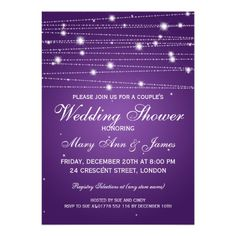 See MoreElegant Couples Shower Sparkling Lines Purple Personalized AnnouncementsWe provide you all shopping site and all informations in our go to store link. You will see low prices on