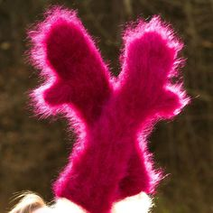 SUPERTANYA Hand knitted mohair mittens fluffy PURPLE fuzzy hand warmers SALE #SuperTanya #Mittens