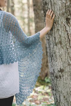 gated shawl, crochet design by rebecca velazquez / in quince & co. piper