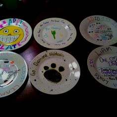 Saw this on here and it worked great thought i would share.  Dollar store plate, sharpie markers, 30 minutes at 300* and voila a great birthday party craft!!  My 12 year old daughter & her friends had fun creating their own plates! Hope y'all enjoy!