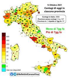 Il 14 ottobre settembre in Italia il totale delle persone che hanno contratto il virus è di 4.709.753 (+2.666). I tamponi effettuati sono 324.614, tasso di positività 0,8%. Il totale dei deceduti è 131.461 (+40). Il numero complessivo dei guariti è 4.498.924 (+3.709). Il numero totale di attualmente positivi è di 79.368 (-1.083). Tra gli attualmente positivi: 359 (-8) sono in cura presso le terapie intensive, 2.479 #contagi #Coronavirus #decessi #Italia #nuovi
