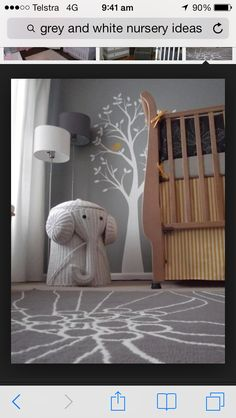grey elephant nursery Reminds me of my childhood and the elephant basket my aunt had Project Nursery, Nursery Decor, Nursery Ideas, Nursery Themes, Room Decor, Inspirations Boards, Boy Room, Kids Room, Ideas Habitaciones