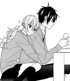 manga, horimiya, and anime image Couple Anime Manga, Anime Love Couple, Manga Romance, Photo Manga, Manga Kawaii, Romantic Anime Couples, Cute Anime Coupes, Art Anime, Anime Couples Drawings