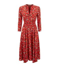 Maje Floral Midi Dress available to buy at Harrods.Shop clothing online and earn Rewards points.