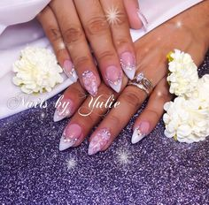 """""""Perfect Day""""   Any occasion.  Simple look.  Wedding Nails.  For every day life."""