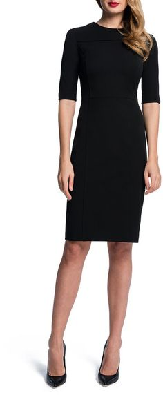 $278, Half Sleeve Seamed Sheath Dress by Cynthia Steffe. Sold by Neiman Marcus. Click for more info: http://lookastic.com/women/shop_items/86707/redirect