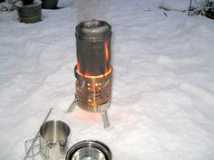 Hobo Stove from IKEA drainer/cutlery holder