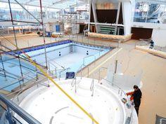 Anthem of the Seas' interior pool area