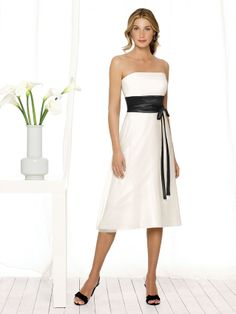 Your great taste will show when you choose the After Six 6506 Bridesmaid dress for your bridal party. The strapless neckline is lovely and the back of the bodice shows pleats that complete this simple style.The midriff is cinched by a wide fabric which can be chosen in a second color to add a unique touch to your celebration. #timelesstreasure