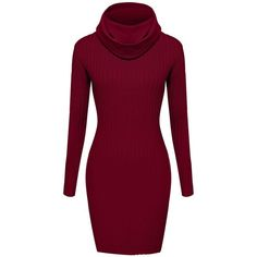 ACEVOG Womens Knitted Crewneck Sweater Bodycon Dress Jumper, Black,... ($30) ❤ liked on Polyvore featuring tops, sweaters, crew-neck tops, crew neck sweaters, crewneck sweater, crew top and bodycon top