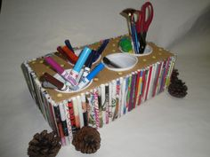 juice Containers Recycled | Multi-pencil holder! **Note: We did not glue on the yogurt containers ...