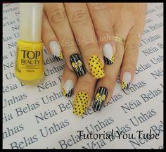 . Toe Nail Designs, Mani Pedi, Toe Nails, Nail Art, Beauty, Makeup, Ideas, Yellow Nails, Light Nails
