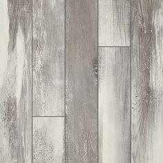 Pergo Portfolio 5.23-in W x 3.93-ft L Iceland Oak Grey Wood Plank Laminate…