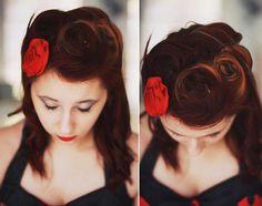 love retro hair :)