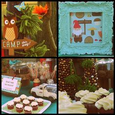 Vintage camping theme party ideas. Just the photo.