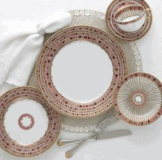 "haviland ""syracuse"" china in their rose colorway.  only $890 per 5-pc placesetting :)"