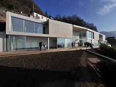 Fil Rouge Architecture Genève - Architecte Genève - CV Arch House, Lugano, Concrete, Villa, Cv, Mansions, House Styles, Studio, Home Decor