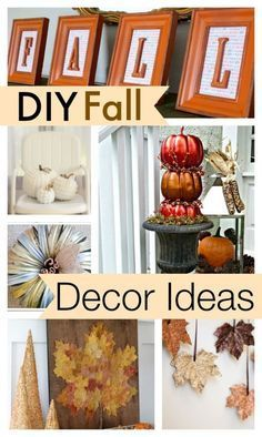 Are you ready for fall yet? Here are 10 of the coolest DIY fall decor ideas you'll want to copy for the home. #falldecorideas