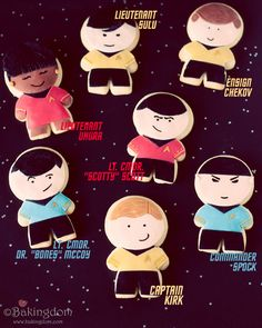 I love these little Star Trek cookies, but would I ever be able to eat them?