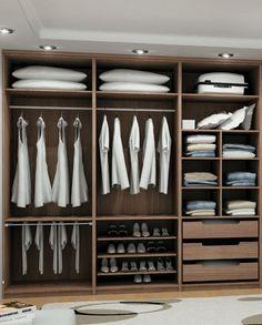closet em l casal ile ilgili görsel sonucu Wardrobe Interior Design, Walk In Closet Design, Wardrobe Design Bedroom, Closet Designs, Closet Bedroom, Home Decor Bedroom, Bedroom Ideas, Modern Wardrobe, Bedroom Furniture
