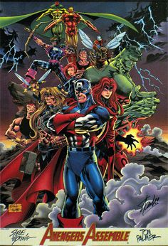 classic comics | Avengers Assemble by Steve Epting and Tom Palmer, signed also by Stan ...