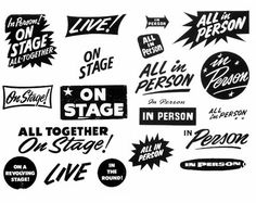 gig typography