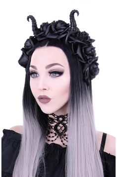Restyle Diabolical and Roses Gothic Headdress