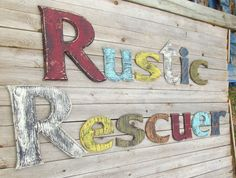 Distrssed Letters by RusticRescuer on Etsy