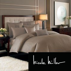 Nicole Miller Currents Driftwood Duvet Cover (Shams Sold Separately)