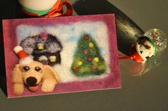 FREE SHIPPING! Holiday Card by Olessia's Wool Pets