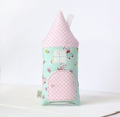 Tooth Fairy Secret Door House, Retro, Tooth Fairy Pillow, Tooth Pillow, Toy, Kids, Girls, Kitten, Bunny, Gift For Child, Baby Shower Gift by AppleWhite on Etsy