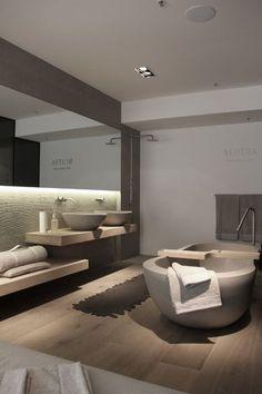 Pure Sydney for Neutra | Natural | Greys & Wood | Modern Minimalist Bathroom | Contemporary Design #inspiration #nakedstyle