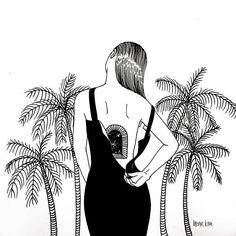 ven a mi mundo henn kim Henn Kim, Tumblr Art, Black And White Illustration, Art Plastique, White Art, Black White, Photo Illustration, Art Inspo, Pop Art
