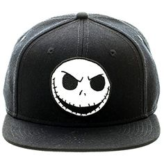 07653877472 Nightmare Before Christmas Jack Emb Patch Snapback Flatbrim Baseball Cap Hat  Official Snapback Flat Brim Baseball Cap Wool  Cotton One size fits most  teens ...