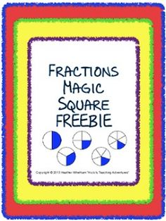 FREE Math Magic Square Puzzles - great to keep students engaged!!