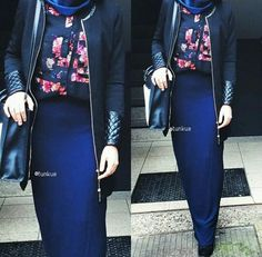 floral, hijab, and skirt image
