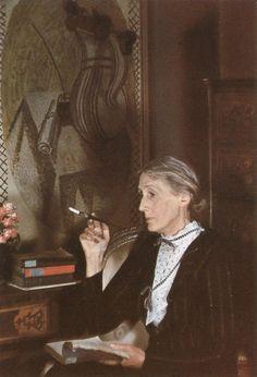 Fotografía de Virginia Woolf obra de Gisele Freund (Alemania,1908-2000)