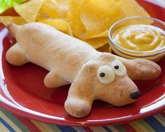 Dog-In-A-Dog: have this for lunch after reading a book like 'Go dog, go,' 'Bark George,' or 'Harry the dirty dog.'