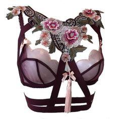 Dream Baby Dream - Embroidered Flower Tassel Harness Top