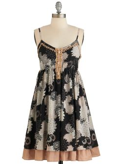 Folksy Farewell Dress. Savor the last day of your countryside getaway by modeling this floral-print sundress.  #modcloth