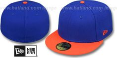 New Era '2T 59FIFTY-BLANK' Royal-Orange Fitted Hat on hatland.com