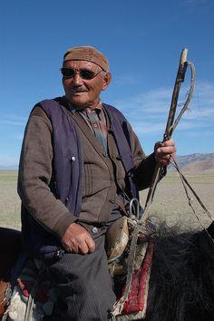 Kazakh Horseman . Mongolia