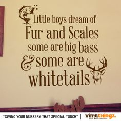 ADORABLE!!!  Wall Decals Nursery Hunting Fishing Deer Baby by Vinylthingz, $29.00