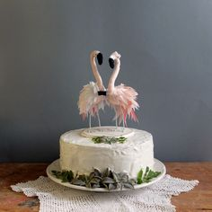 Topo de Bolo Flamingo - Annita