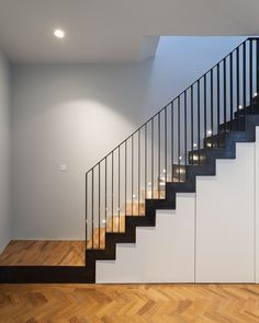 Lovell Staircases Cake Industries Stair Railing I Staircase Railing Design, Staircase Handrail, Home Stairs Design, New Staircase, Interior Stairs, House Design, Stair Case Railing Ideas, Modern Stairs Design, Deco Restaurant