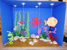 Toddler Crafts, Preschool Crafts, Fun Crafts, Diy And Crafts, Arts And Crafts, Paper Crafts, Summer Crafts For Kids, Diy For Kids, Fabrication D'aquarium
