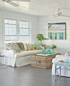 white cladding on walls