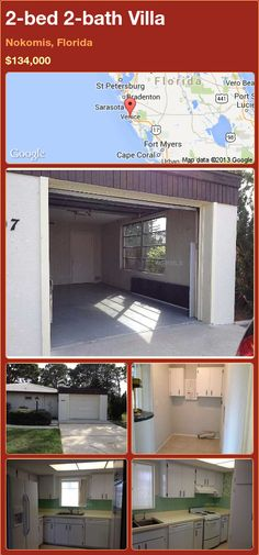 2-bed 2-bath Villa in Nokomis, Florida ►$134,000 #PropertyForSale #RealEstate #Florida http://florida-magic.com/properties/90903-villa-for-sale-in-nokomis-florida-with-2-bedroom-2-bathroom