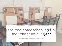Biblical Homemaking: our daily school schedule this year and THE best tip for homeschooling
